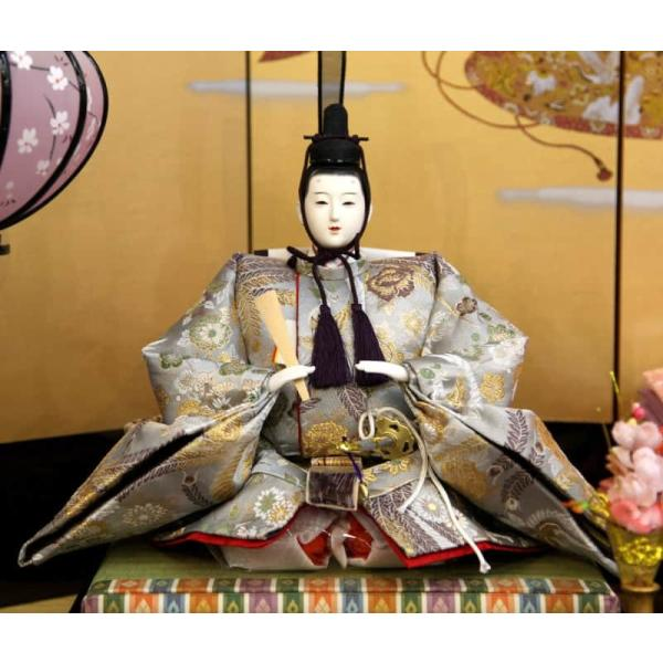 雛人形 久月 ひな人形 雛 三段飾り 五人飾り 春陽雛 西陣織金襴 九番親王 大三五官女 駿河古典蒔絵 h023-k-1080 K-31|asutsuku-ningyoya|05