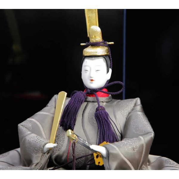 雛人形 ひな人形 雛 平飾り 親王飾り 名匠 清水久遊作 正絹 有職ひな h223-mo-no1-1|asutsuku-ningyoya|04