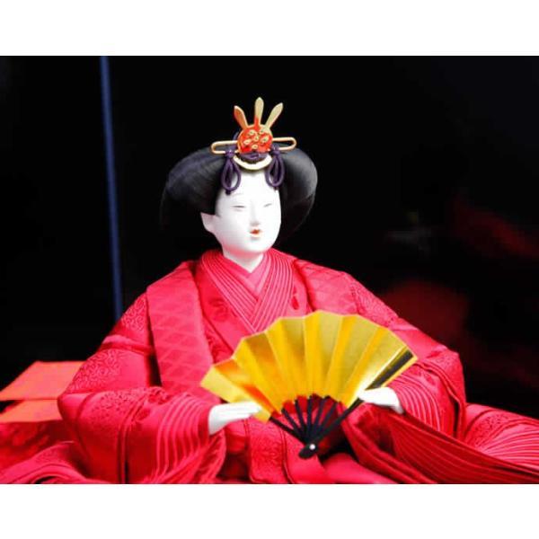 雛人形 ひな人形 雛 平飾り 親王飾り 名匠 清水久遊作 正絹 有職ひな h223-mo-no1-1|asutsuku-ningyoya|05