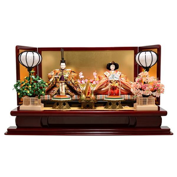雛人形 吉徳 ひな人形 雛 平飾り 親王飾り 京都西陣 伝統文様裂地 衣裳着 九番親王 h243-co-307054 asutsuku-ningyoya