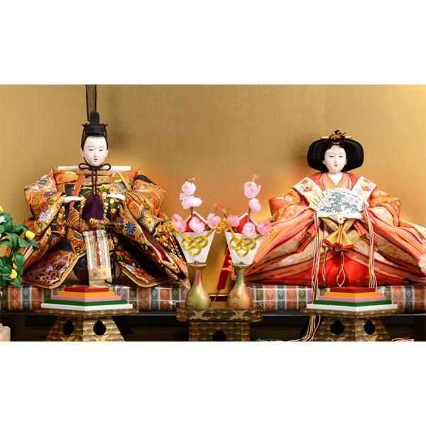雛人形 吉徳 ひな人形 雛 平飾り 親王飾り 京都西陣 伝統文様裂地 衣裳着 九番親王 h243-co-307054 asutsuku-ningyoya 03