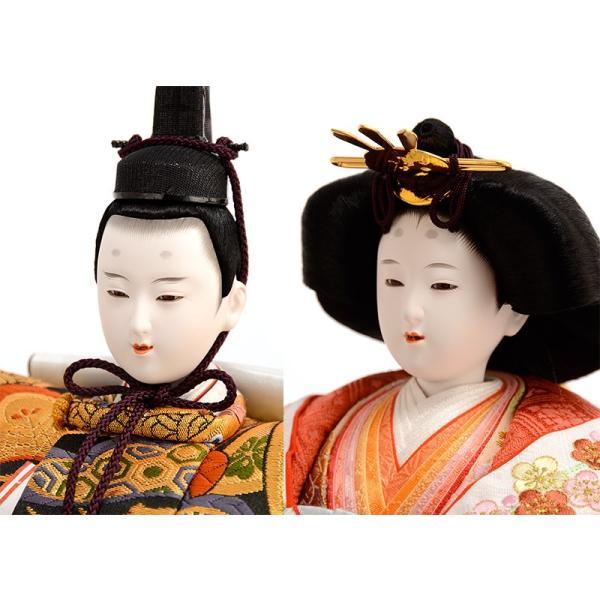 雛人形 吉徳 ひな人形 雛 平飾り 親王飾り 京都西陣 伝統文様裂地 衣裳着 九番親王 h243-co-307054 asutsuku-ningyoya 04