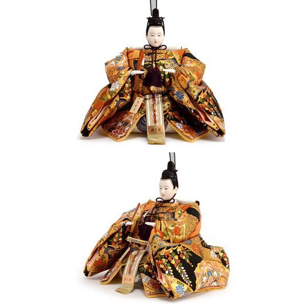 雛人形 吉徳 ひな人形 雛 平飾り 親王飾り 京都西陣 伝統文様裂地 衣裳着 九番親王 h243-co-307054 asutsuku-ningyoya 05