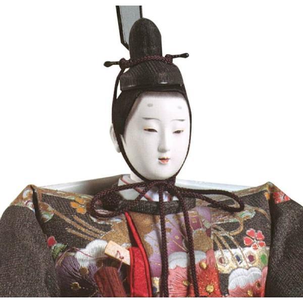 雛人形 久月 ひな人形 雛 三段飾り 五人飾り 光雅雛 西陣織 金彩刺繍 京七番親王 大三五官女 駿河古典蒔絵 h023-k-1140 K-28|asutsuku-ningyoya|04