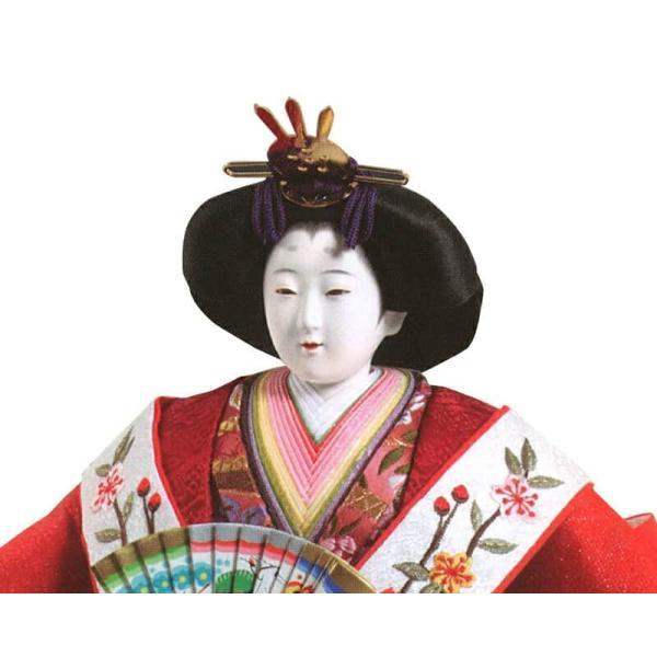 雛人形 久月 ひな人形 雛 三段飾り 五人飾り 光雅雛 西陣織 金彩刺繍 京七番親王 大三五官女 駿河古典蒔絵 h023-k-1140 K-28|asutsuku-ningyoya|05