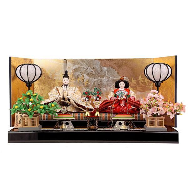雛人形 ひな人形 雛 久月 平飾り 親王飾り 清水文平作 正絹帯地 東京久月監製 h243-kcp-s24556c asutsuku-ningyoya