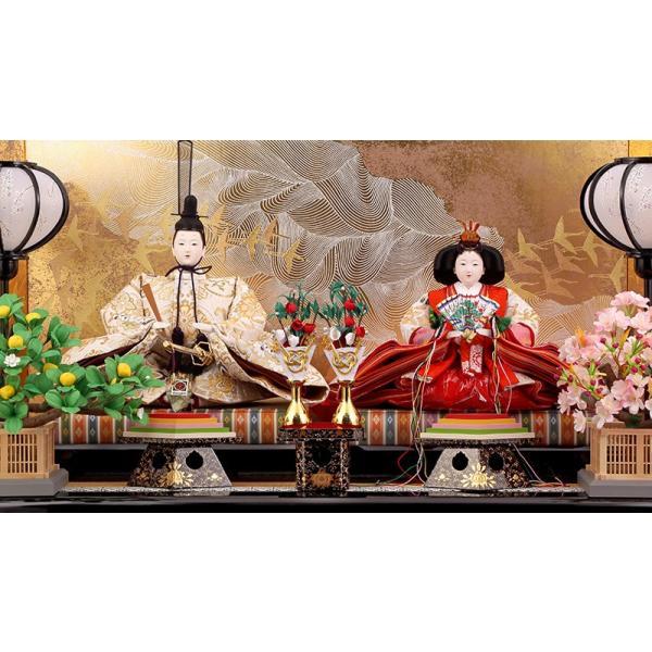 雛人形 ひな人形 雛 久月 平飾り 親王飾り 清水文平作 正絹帯地 東京久月監製 h243-kcp-s24556c asutsuku-ningyoya 03