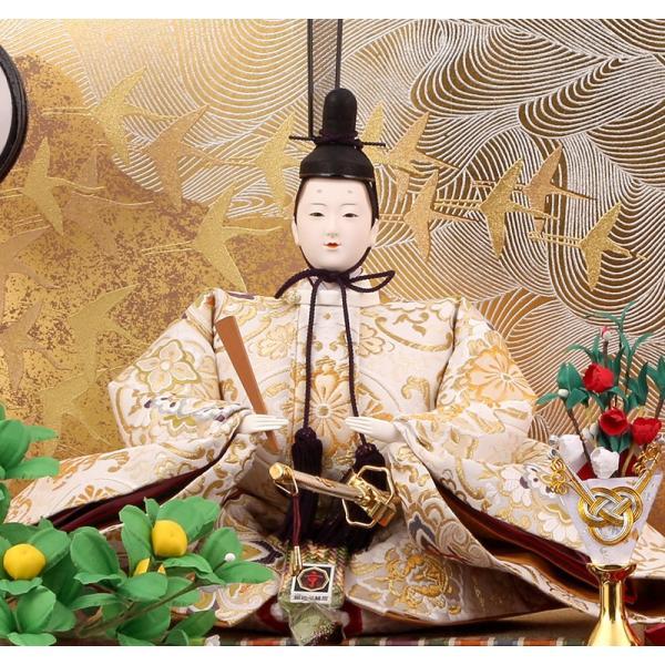 雛人形 ひな人形 雛 久月 平飾り 親王飾り 清水文平作 正絹帯地 東京久月監製 h243-kcp-s24556c asutsuku-ningyoya 04