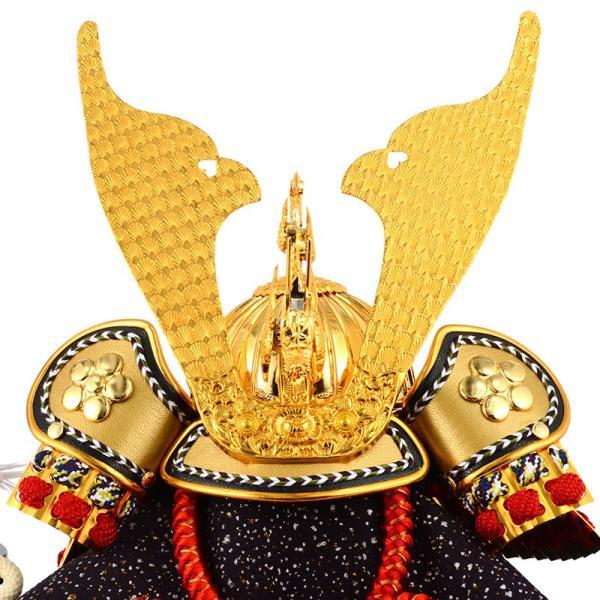 五月人形 コンパクト ケース 兜飾り 兜ケース飾り 藤翁作 富岳 山水バック オルゴール付 h285-fncp-165-712-NA16|asutsuku-ningyoya|03