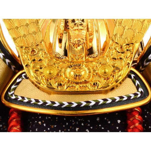 五月人形 コンパクト ケース 兜飾り 兜ケース飾り 藤翁作 富岳 山水バック オルゴール付 h285-fncp-165-712-NA16|asutsuku-ningyoya|05