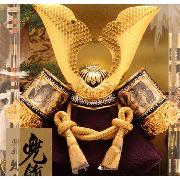 五月人形 久月 兜ケース飾り 六角  オルゴール付 h265-k-k112-2|asutsuku-ningyoya|03