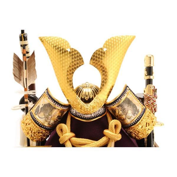 五月人形 久月 兜ケース飾り 六角  オルゴール付 h265-k-k112-2|asutsuku-ningyoya|04