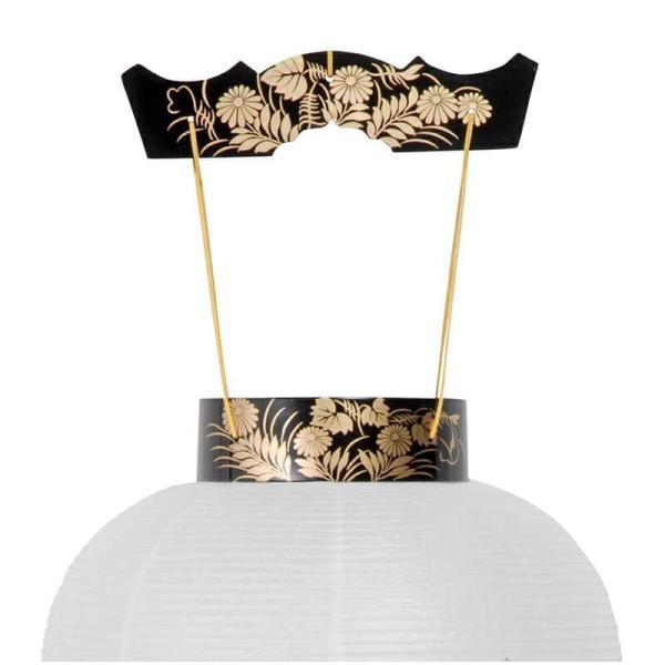 盆提灯 初盆 盆ちょうちん コードレス 壺型 新極上黒蒔絵 電池式LED ビニロン紙張 h028-ymt-0392-led1584 提灯 お盆 新盆 お盆飾り|asutsuku-ningyoya|03