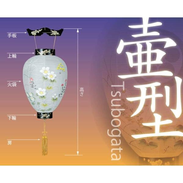 盆提灯 初盆 盆ちょうちん コードレス 壺型 新極上黒蒔絵 電池式LED ビニロン紙張 h028-ymt-0392-led1584 提灯 お盆 新盆 お盆飾り|asutsuku-ningyoya|05