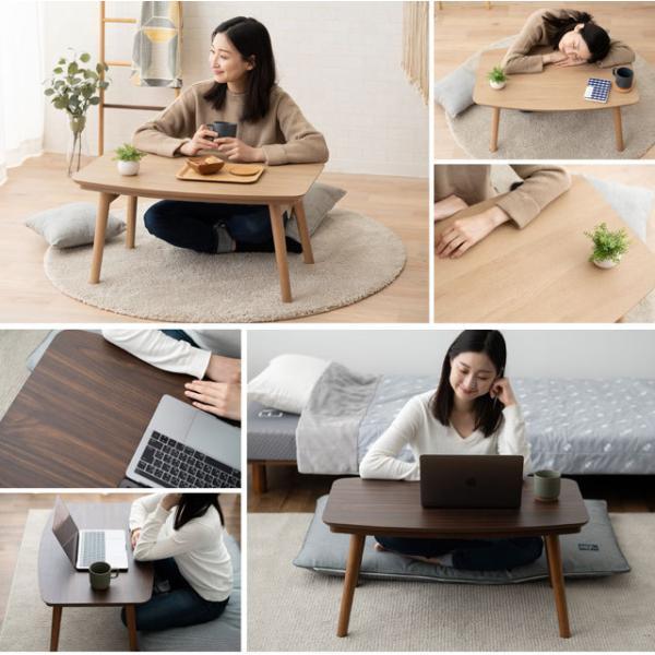 こたつ コタツ テーブル オーバル形 幅105cm 突き板 折り畳み ...