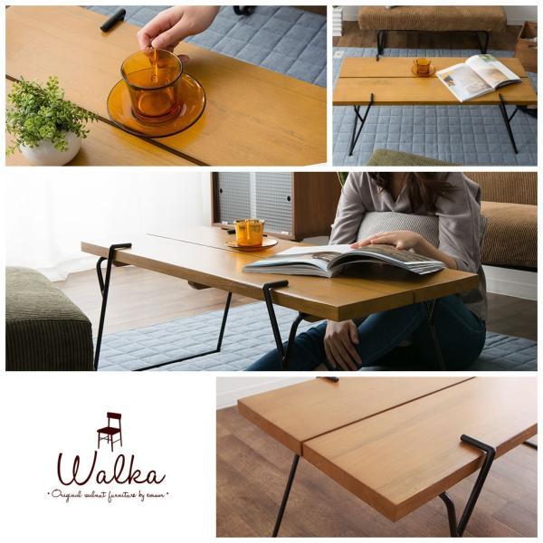 ウォルカ コーヒーテーブル ウォルカ  ウォールナット 天然無垢材 木製 コーヒーテーブル センターテーブル 楕円 北欧 新生活 送料無料|at-emoor|08