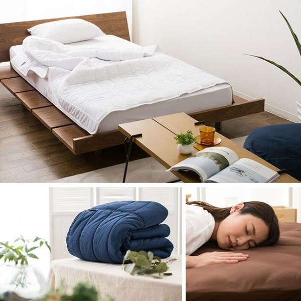 エムールドライEX 敷きパッド ベッドパッド シングル セミダブル ダブル クイーン 吸水速乾 ベッドパット 敷パッド ひんやり 涼感 洗える 洗濯 除湿 通気性 吸湿|at-emoor|10
