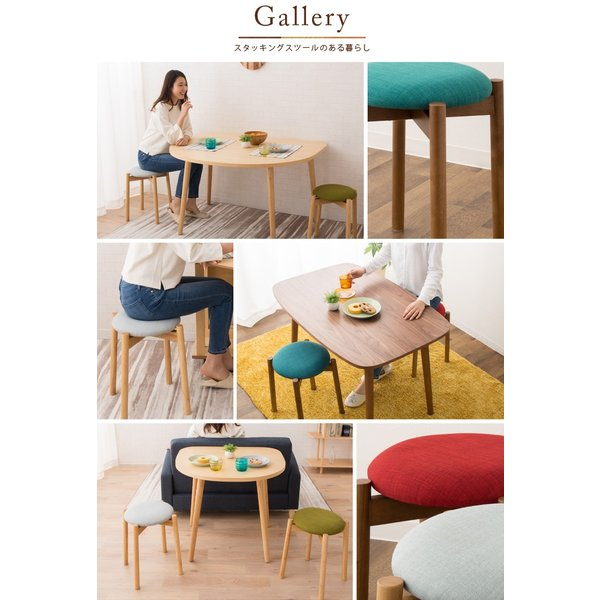 椅子 チェア ダイニングチェア 丸椅子 スツール スタッキングスツール 子供 軽量 家具 木製 天然木 北欧 シンプル 一人暮らし 新生活 送料無料 エムール|at-emoor|12