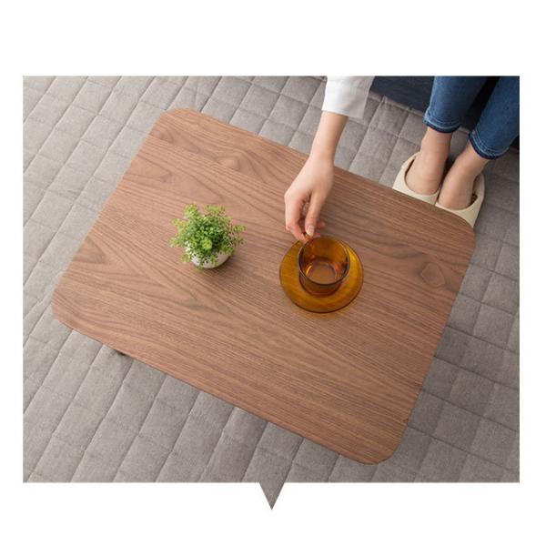 折りたたみテーブル テーブル 小ぶりの折りたたみテーブル Sサイズ 長方形 ウォルカ ウォールナット アッシュ ウォルナット 木製 天然木 突き板 ローテーブル|at-emoor|03