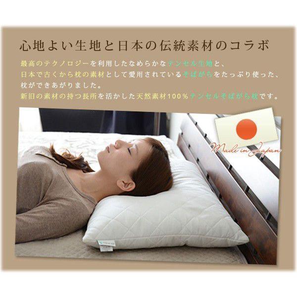 テンセル そばがら枕 43×63cm そば殻枕 そば枕|at-emoor|02