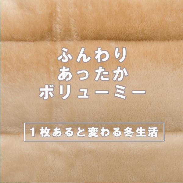 ふんわりあったかボリューム枕パッド/約43×63cm ピロケース まくらパッド マクラパッド ボリューミー 高級感 暖か あったか 洗える 洗濯 冬用|at-emoor|02