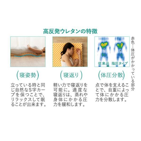 3つ折りマットレス シングル セミダブル ダブル 145N アンダーマットレス 日本製 国産 ウレタンマットレス ベッドマットレス ロフトベッド用 三つ折り 収納 硬い|at-emoor|08