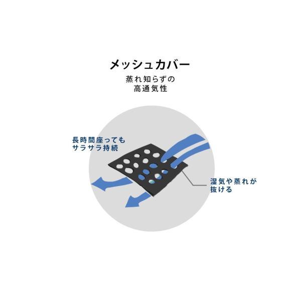 チェアパッド シートクッション 椅子 座椅子 クッション パッド マット メッシュ ポリエステル 通気性 洗える 日本製 エムール|at-emoor|07