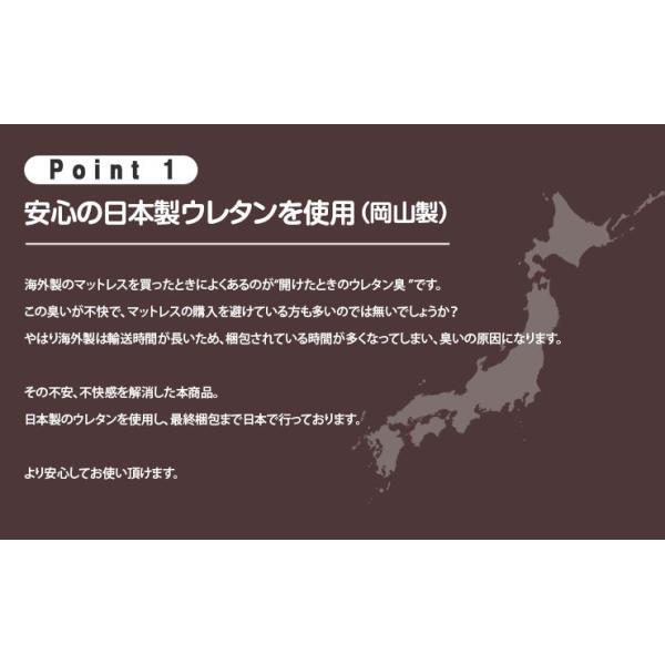 3つ折りマットレス ダブルサイズ 90N アンダーマットタイプ アンダーマットレス 日本製 国産 ウレタンマットレス ベッドマットレス 2段ベッド用 敷き布団|at-emoor|03