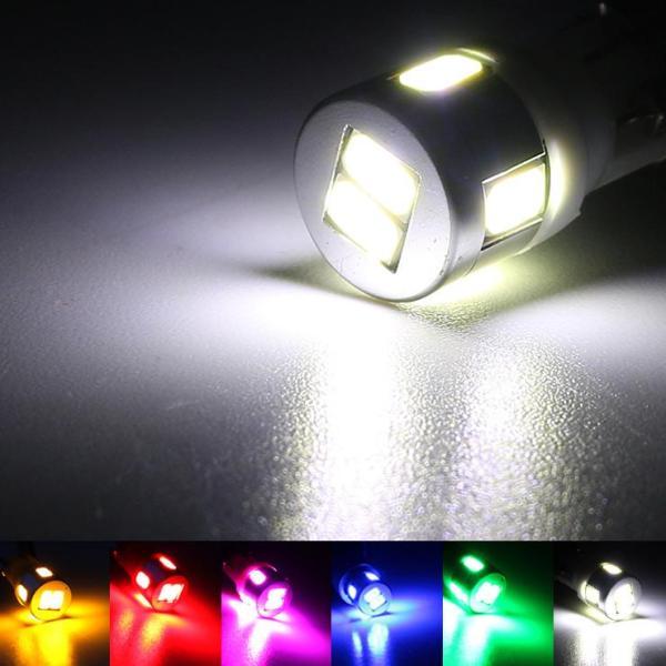 ハイエース 200系 5型 T10 LEDバルブ 6LED アルミヒートシンク 2個セット ルームランプ ポジション ナンバー灯 標準/ワイド DX/SGL ワゴン/バン