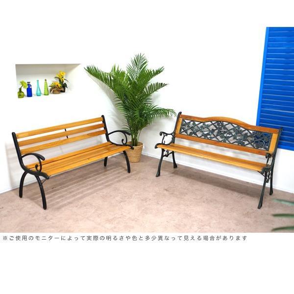 ガーデンベンチ ウッドタイプ 耐荷重160kg ガーデン インテリア ベンチ パークベンチ おしゃれ 公園 カフェ|at-ptr|04