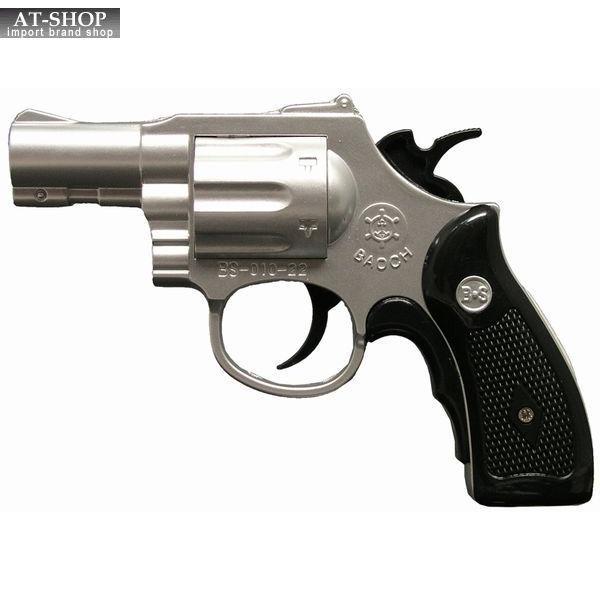 BSリボルバーライター マットシルバー GUN 銃 ミリタリー ガス注入式ターボライター アドミラル産業 71290047