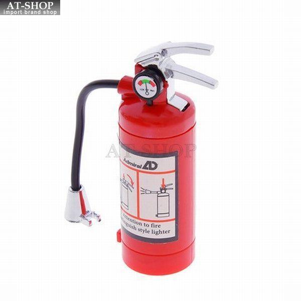 【あすつく】消火器ライター 電子ライター LEDライト付き ガス注入式ライター アドミラル産業 おもしろライター 1個