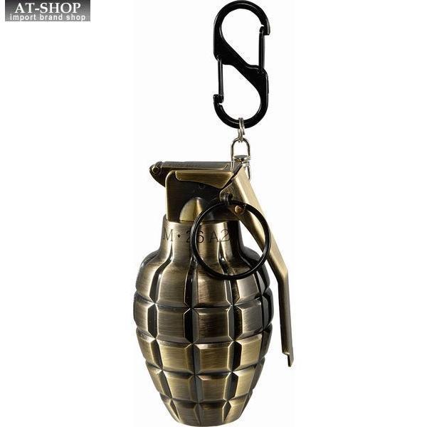 グレネード ターボライター 手榴弾 ミリタリー ガス注入式ライター アドミラル産業 71390073 真鍮古美(ゴールド)