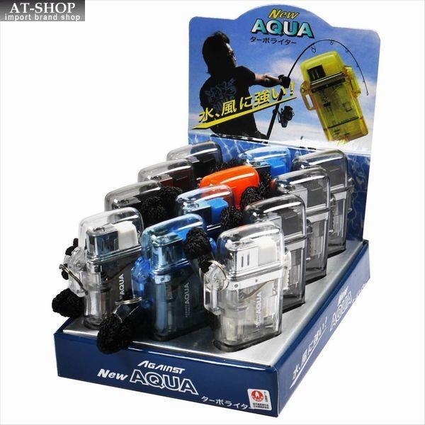 ツインライト アゲインスト アクア ターボライター AGAINST AQUA  注入式 ジェットライター (お得12本まとめ買い 12本セット) ※色選択不可  箱無し ネコポス便