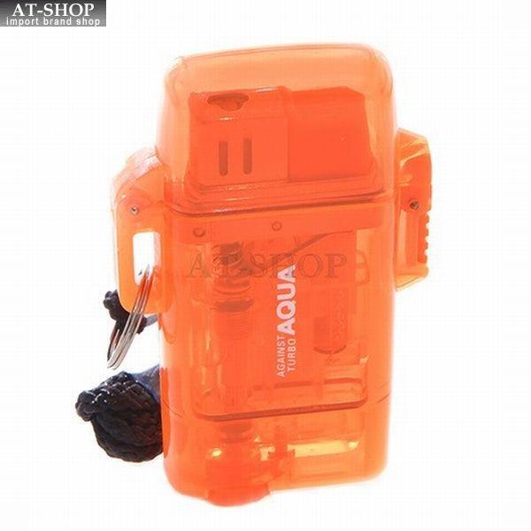 ツインライト  アゲインスト アクア ターボライター AGAINST AQUA 注入式 ジェットライター オレンジ