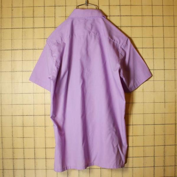 MONTGOMERY WARD 60s 70s 半袖 ボックスシャツ パープル ライトフランネル メンズS相当 ビンテージ 古着 042419ss122|ataco-garage|03