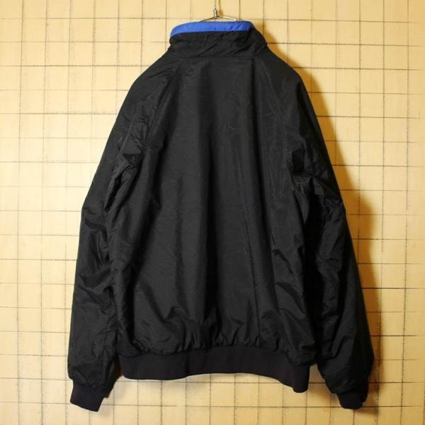 80s-90s Columbia コロンビア 中綿 ナイロン ジャケット 裏総柄フリース ジップアップ ブラック メンズM相当 レディースL相当 古着|ataco-garage|05