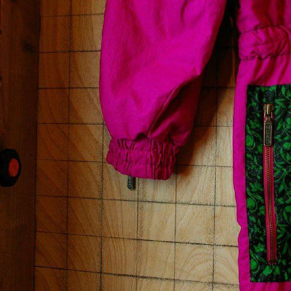 80s オーストリア製古着スキーウェアショッキングピンクチロリアンテープ中綿ツナギ オールインワン ジャンプスーツHEAD ataco-garage 06