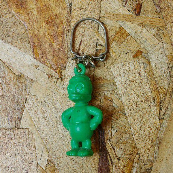 ビンテージ フランス製70sグリーン 緑 あひるキーホルダー|ataco-garage
