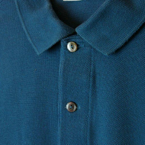 LACOSTEラコステ 古着ビリジアンコットン100%鹿の子生地ワンポイント長袖ポロシャツサイズ5 ataco-garage 03