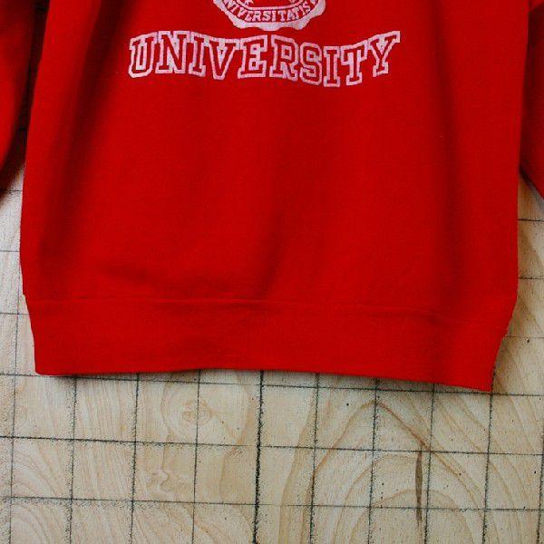 ビンテージ アメリカ古着MAIAMI UNIVERSITY マイアミ大学 レッド 赤 プリントカレッジスウェット トレーナー|ataco-garage|05