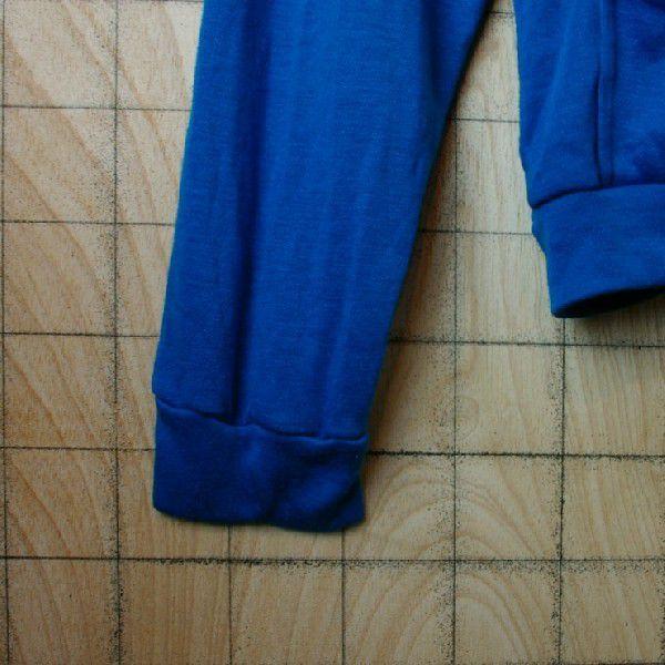 インドネシア製古着アクリルフルジップパーカー  青 ブルーJUST4BOYS ataco-garage 05