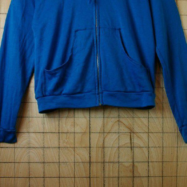 インドネシア製古着アクリルフルジップパーカー  青 ブルーJUST4BOYS ataco-garage 06