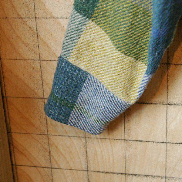 CPO USA古着長袖メンズイエロー×ブルー×グリーン 青×黄×緑 ビンテージウールCPOシャツ ataco-garage 05