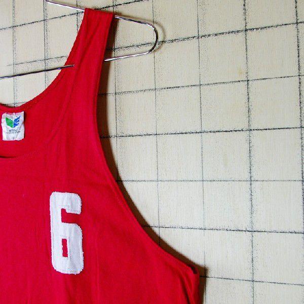 古着ドイツ製赤 レッド コットン100%ナンバリングerima メンズタンクトップ|ataco-garage|03