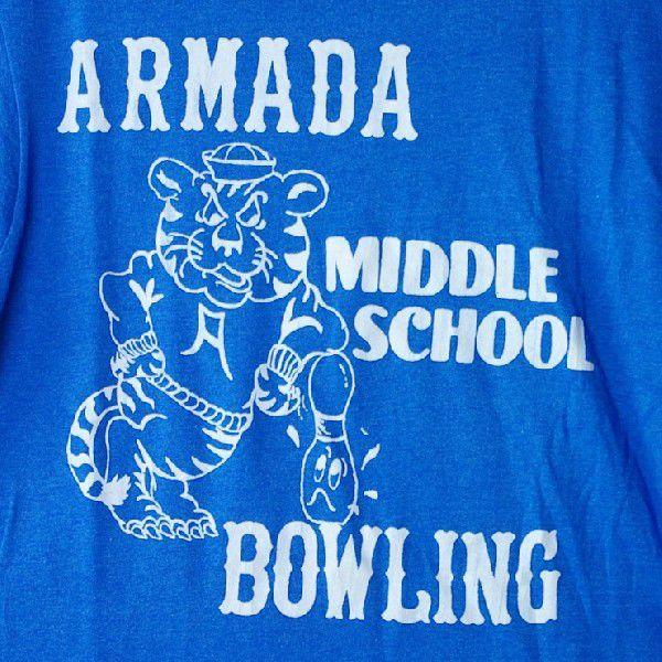 古着USA アメリカ 製armada middle school bowling Tシャツ|ataco-garage|02