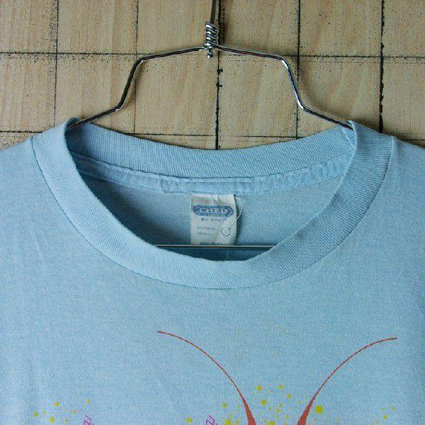 古着USA アメリカ 製水色 ライトブルー CHEDメンズTシャツ|ataco-garage|03