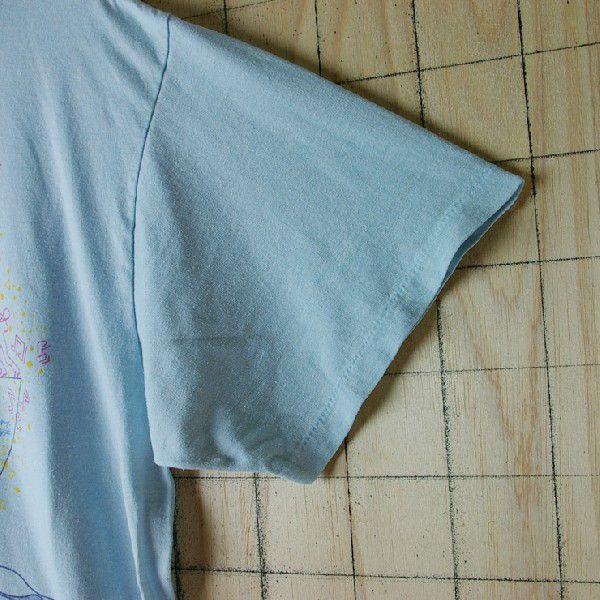 古着USA アメリカ 製水色 ライトブルー CHEDメンズTシャツ|ataco-garage|04