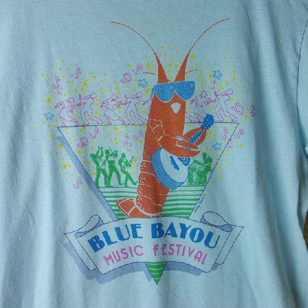 古着USA アメリカ 製水色 ライトブルー CHEDメンズTシャツ|ataco-garage|05