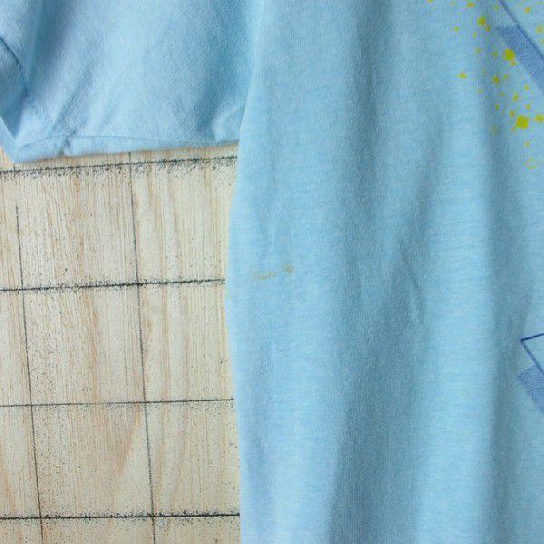 古着USA アメリカ 製水色 ライトブルー CHEDメンズTシャツ|ataco-garage|06